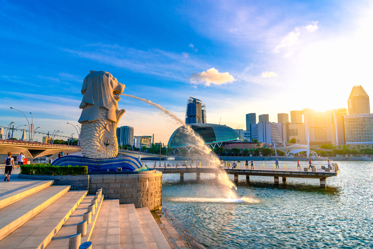 Singapur posąg