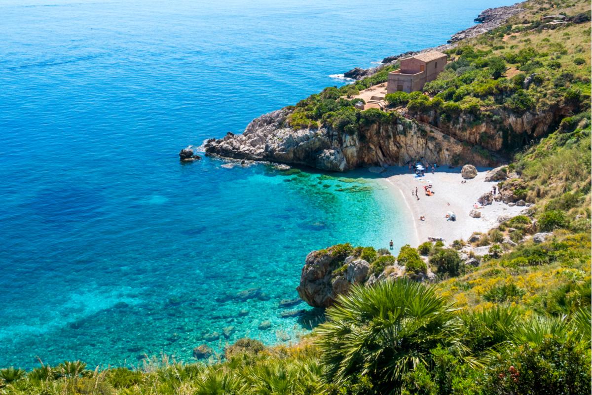 plaża na Sycylii