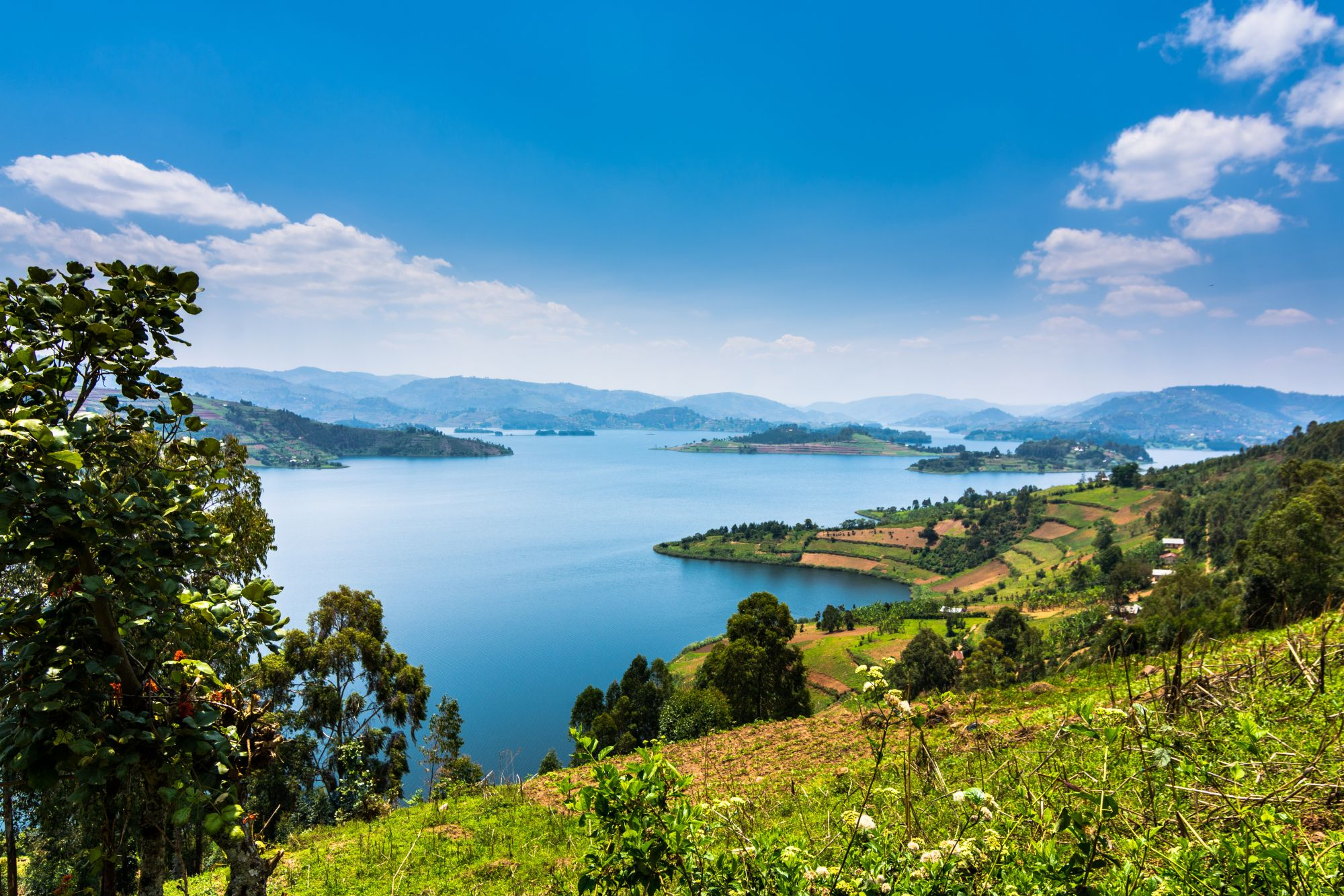 Uganda panorama jeziora