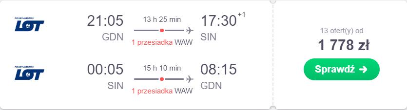 gdańsk loty do azji