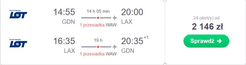 z gdańska do kaliforni