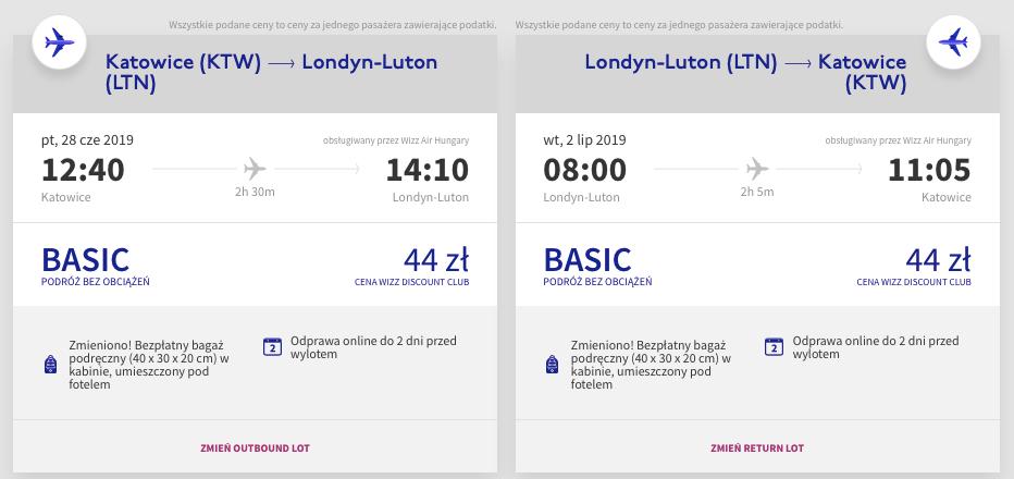 wakacyjne loty londyn