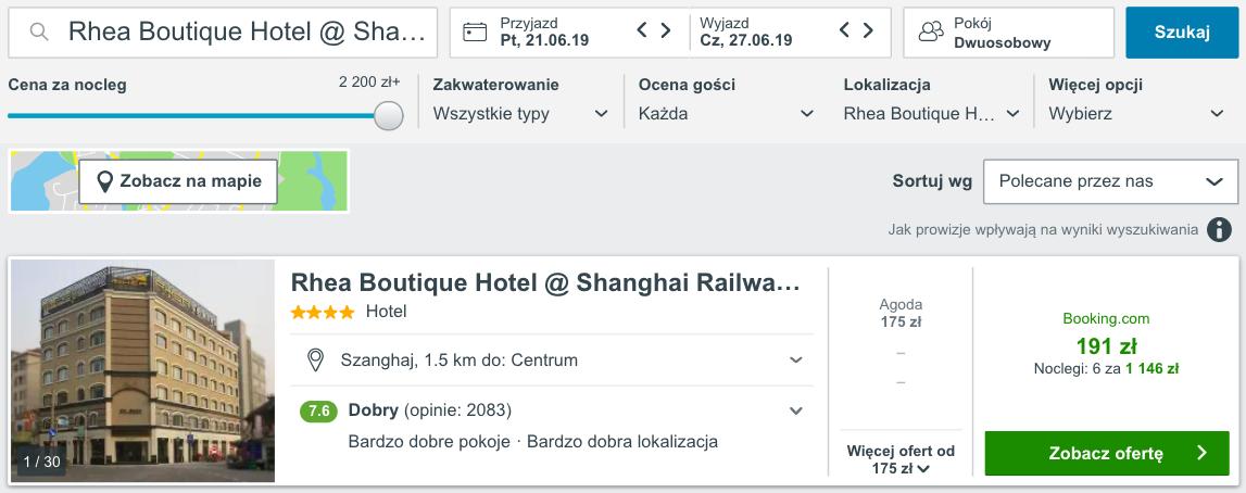 zarezerwuj hotel w szanghaju