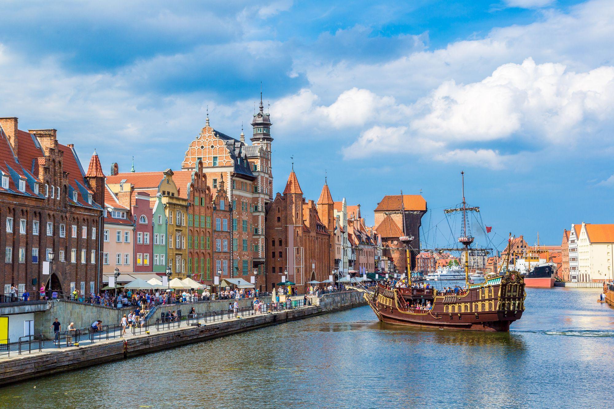 Statek w Gdańsku