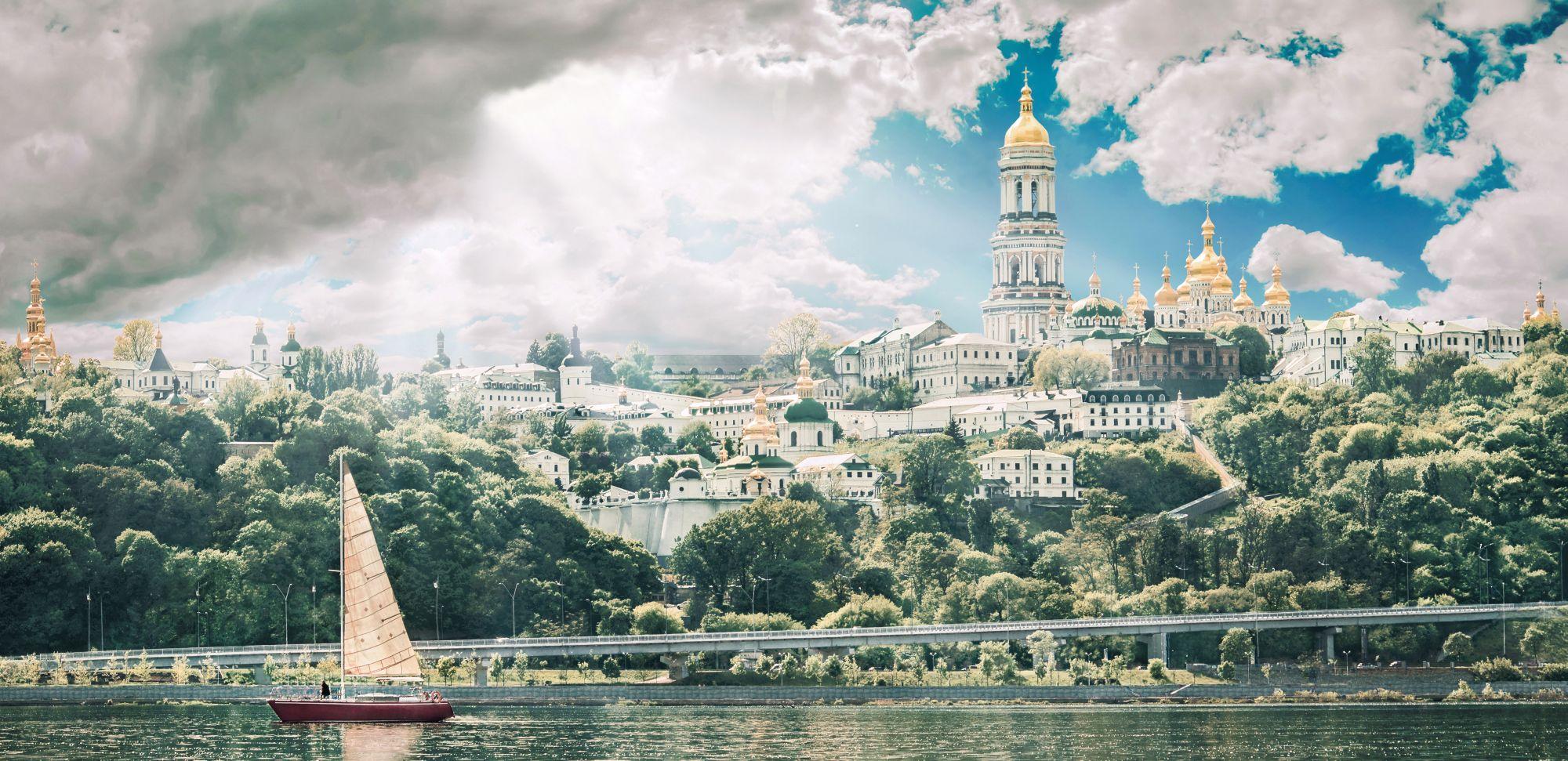 Dniepr w Kijowie