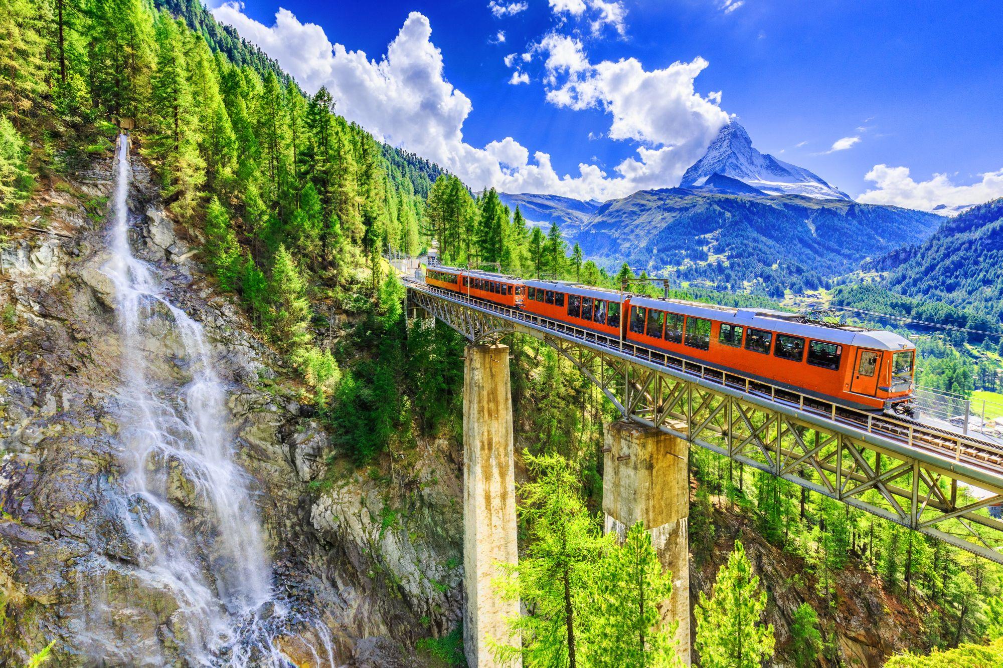 Pociąg w Szwajcarii