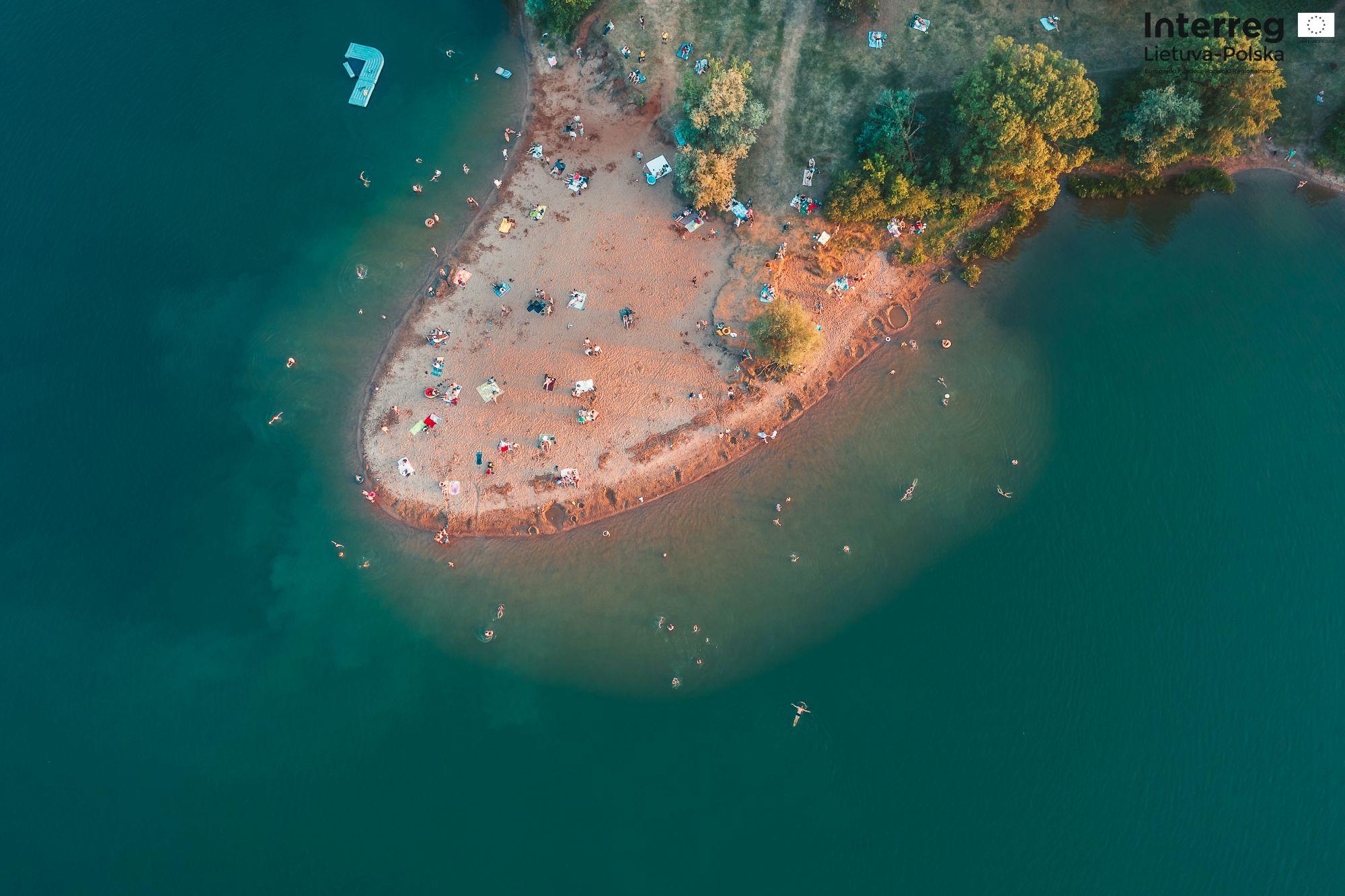 Plaża widziana z lotu ptaka