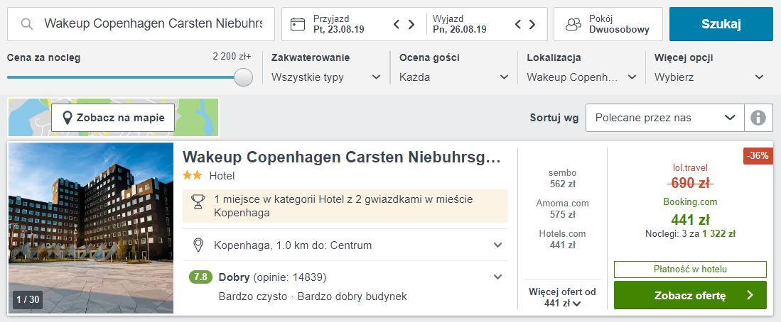 Kopenhaga hotel