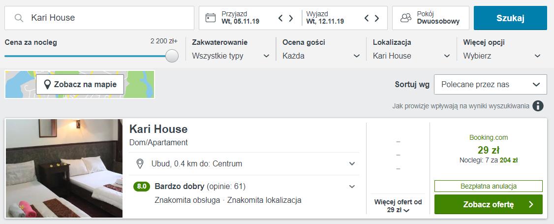 hotel bali za 204 pln