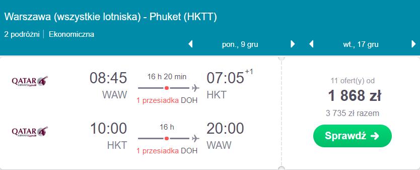 loty na Phuket