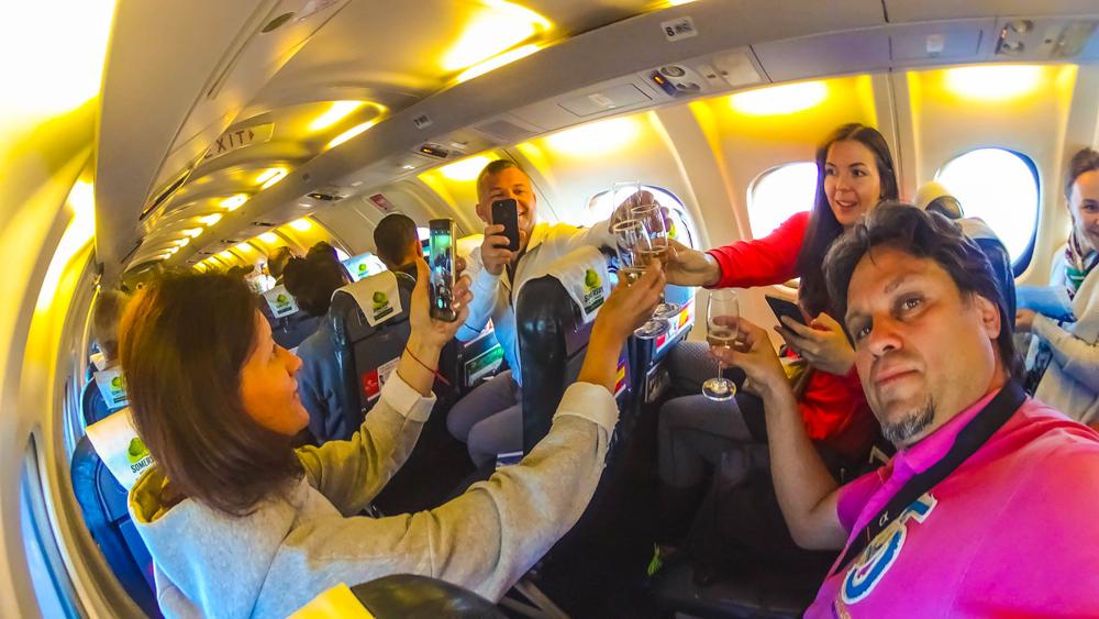 pasażerowie samolot