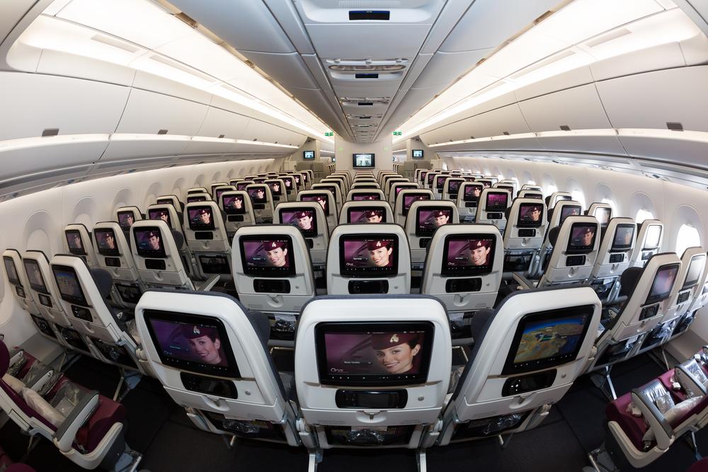 Wnętrze Airbusa A350