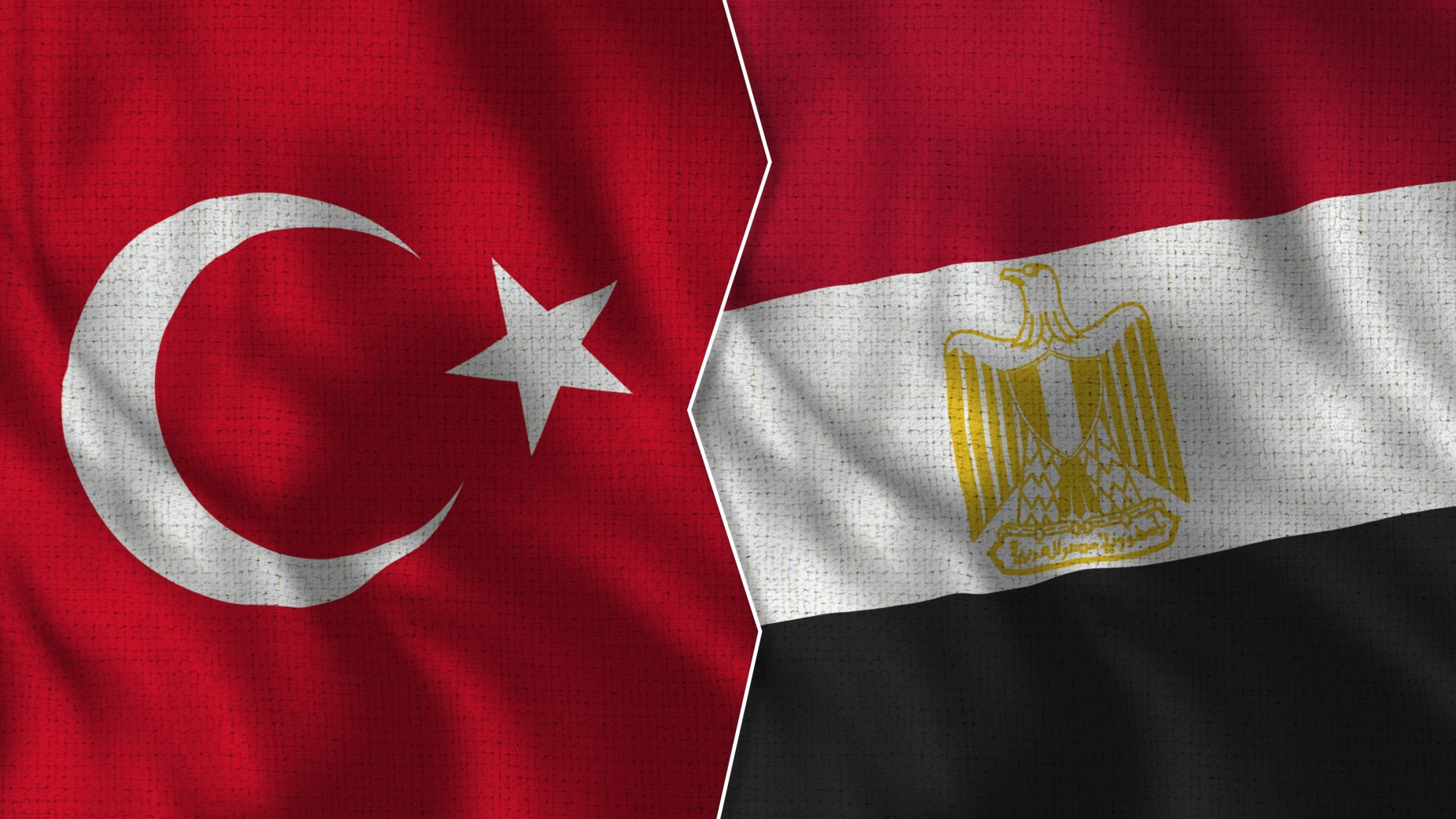 Flagi Egiptu i Turcji