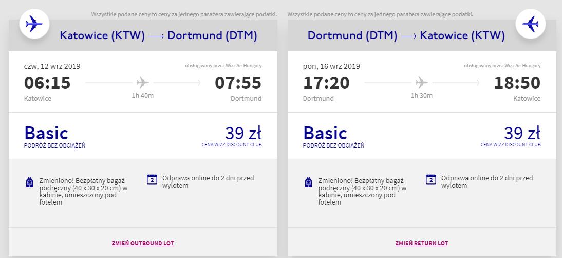 Loty do Dortmundu