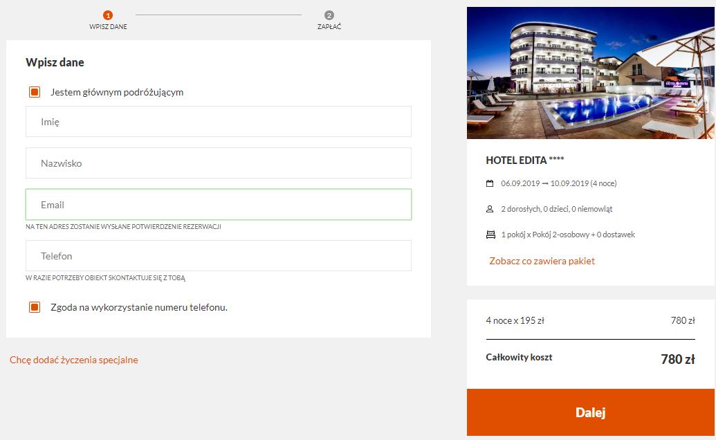 Czarnogóra hotel
