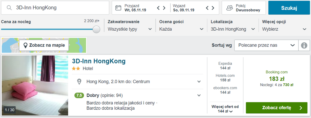hongkong noclegi
