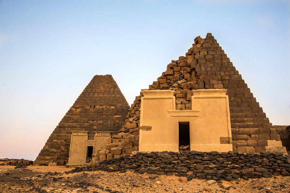 Piramidy w Meroe, Sudan