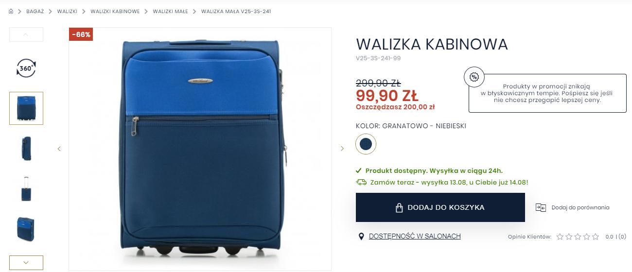 Zamówienie walizki