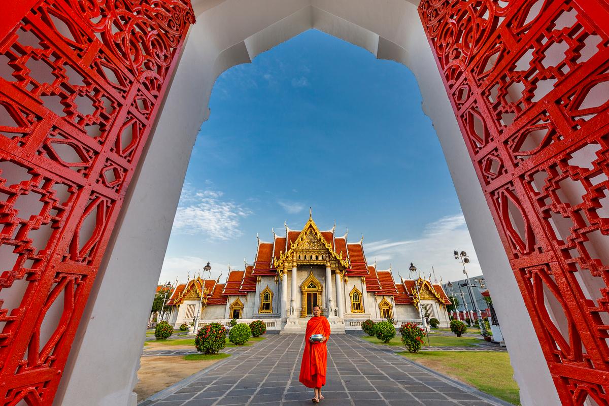 Mnich w Bangkoku