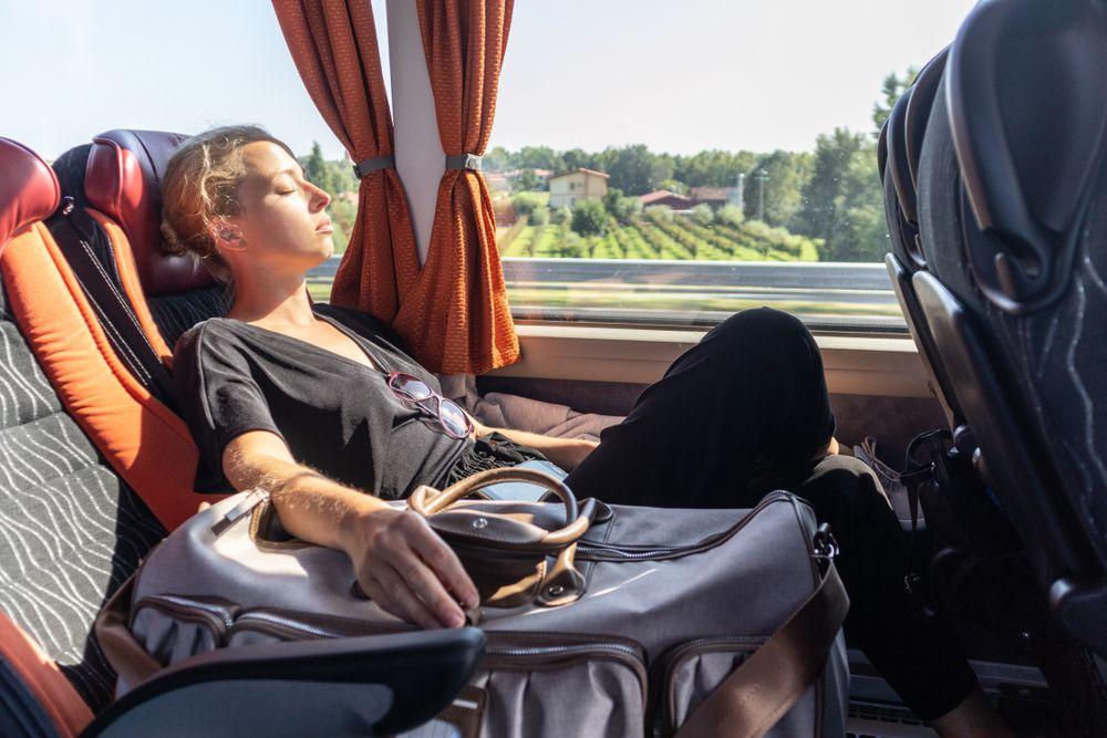 Autobus i pasażerka