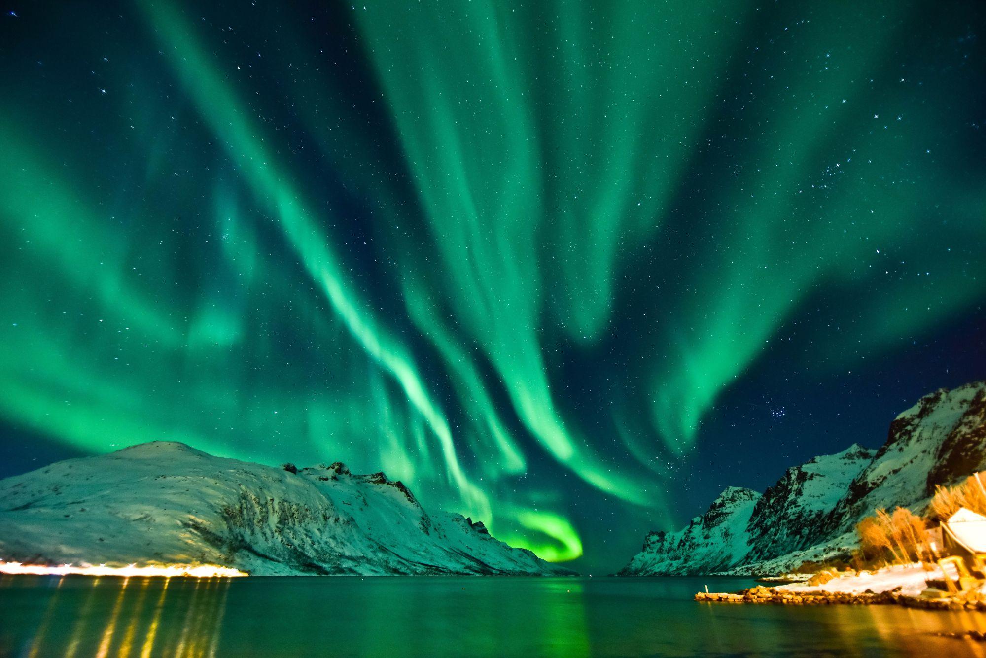 Zorza nad Tromso