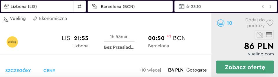 zarezerwuj loty do barcelony