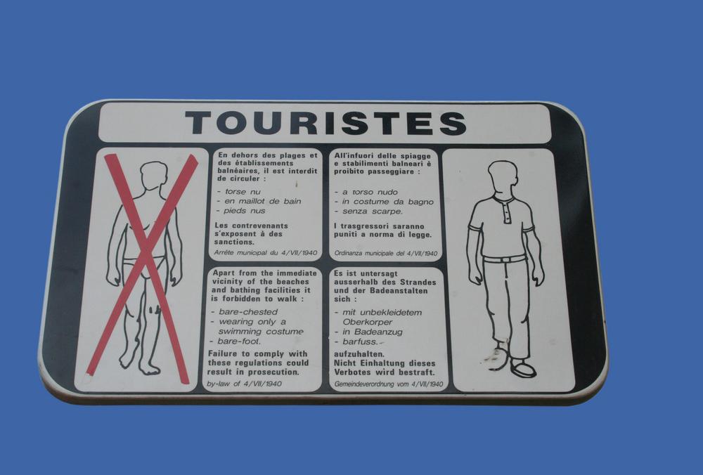 zakaz dla turystów