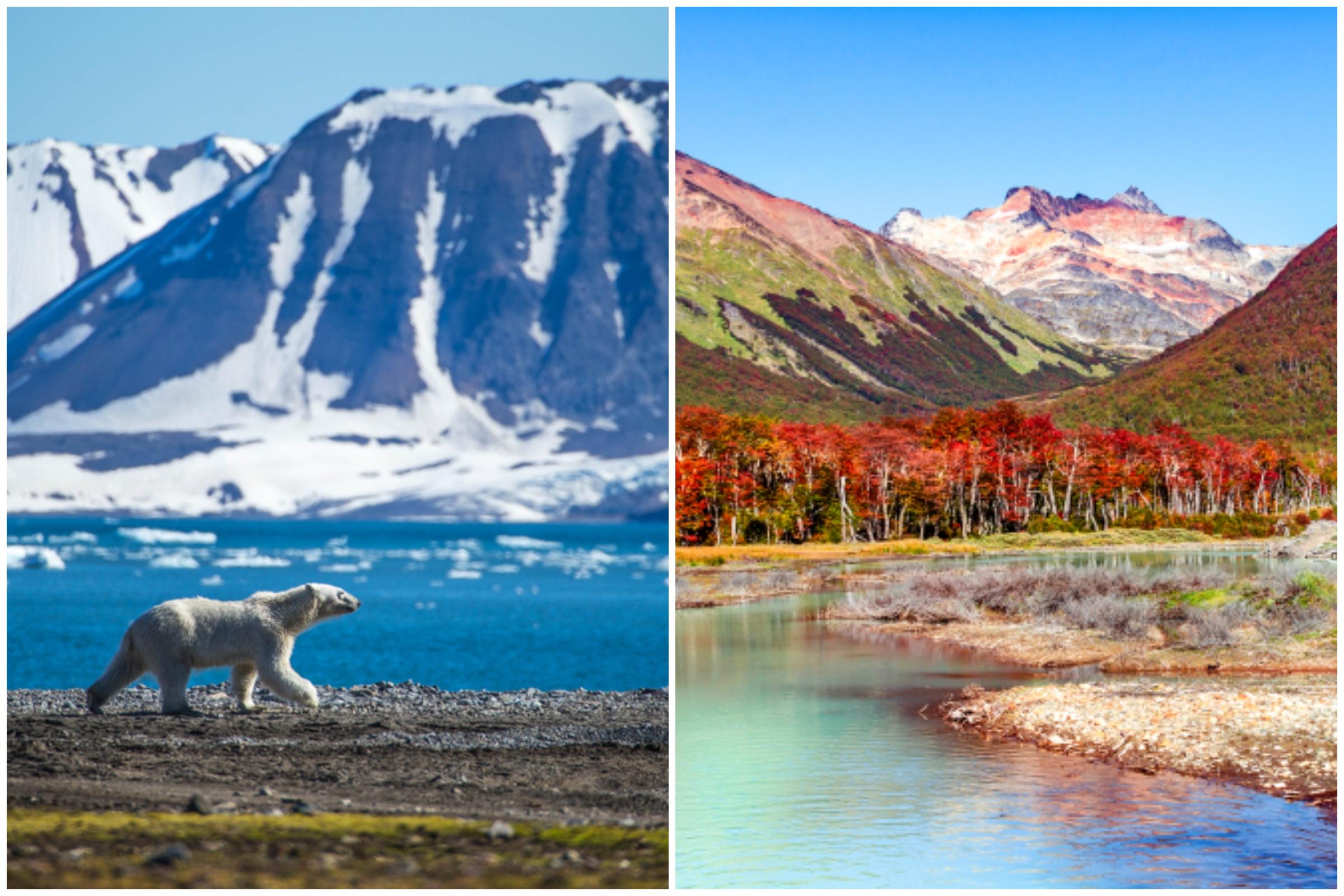 Svalbard, Ziemia Ognista, Arktyka