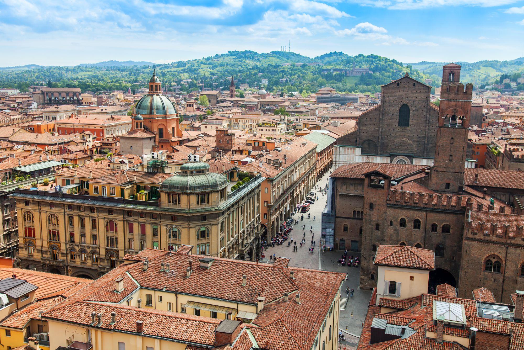 Bolonia panorama miasta