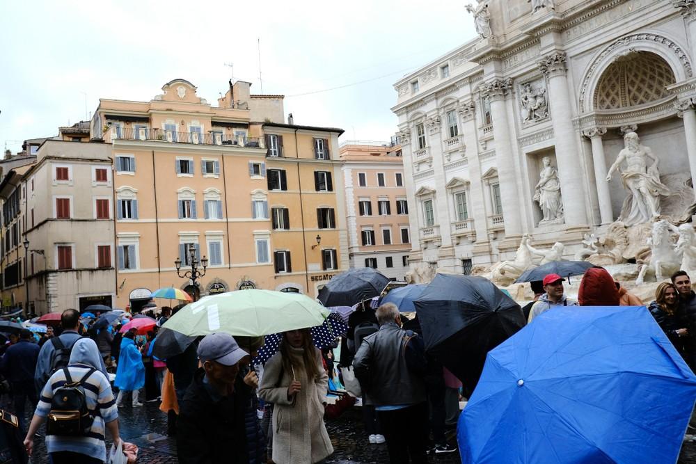 Deszcz w Rzymie