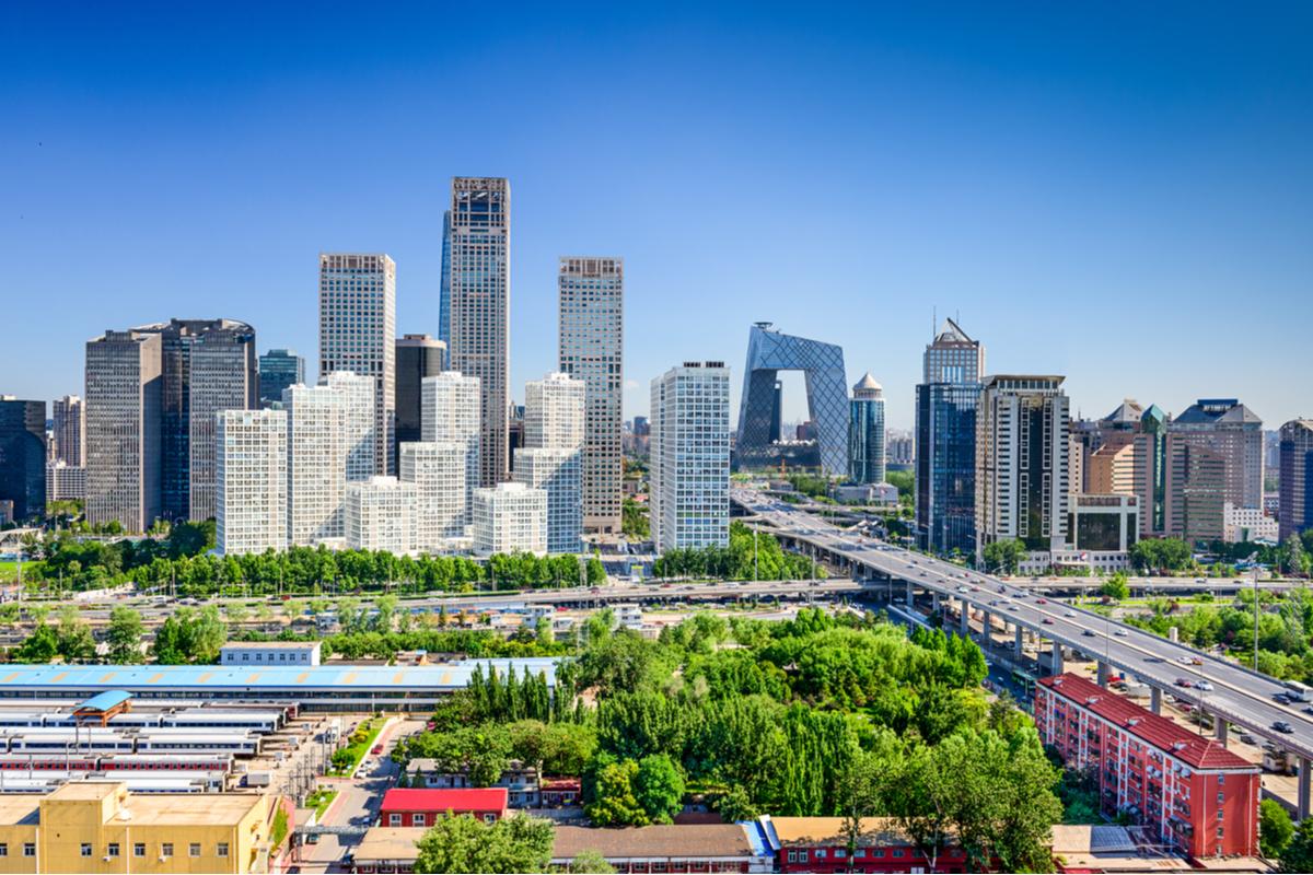 Pekin panorama miasta