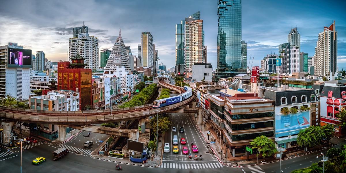bangkok widok na miasto