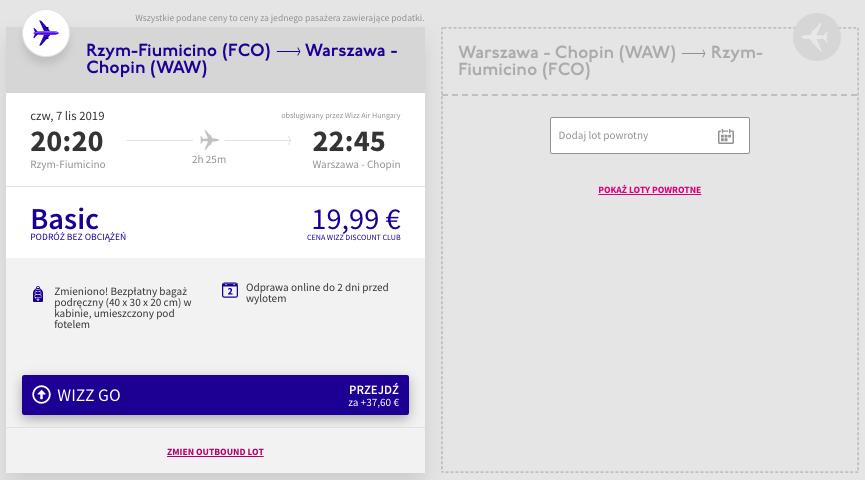 Zarezerwuj loty do Warszawy