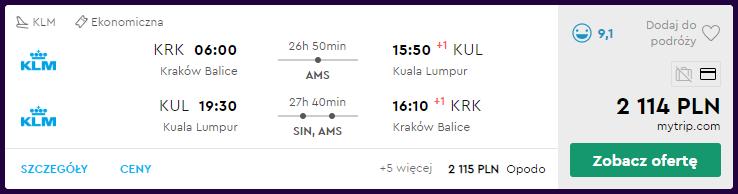 Loty do Kuala Lumpur