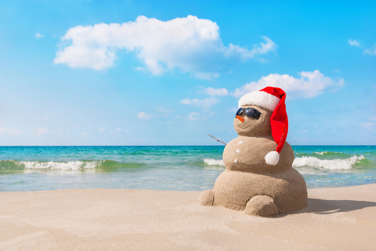 Mikołaj na plaży