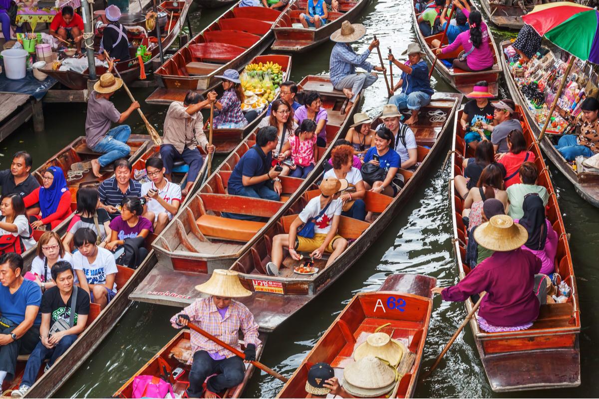 pływajacy targ bangkok