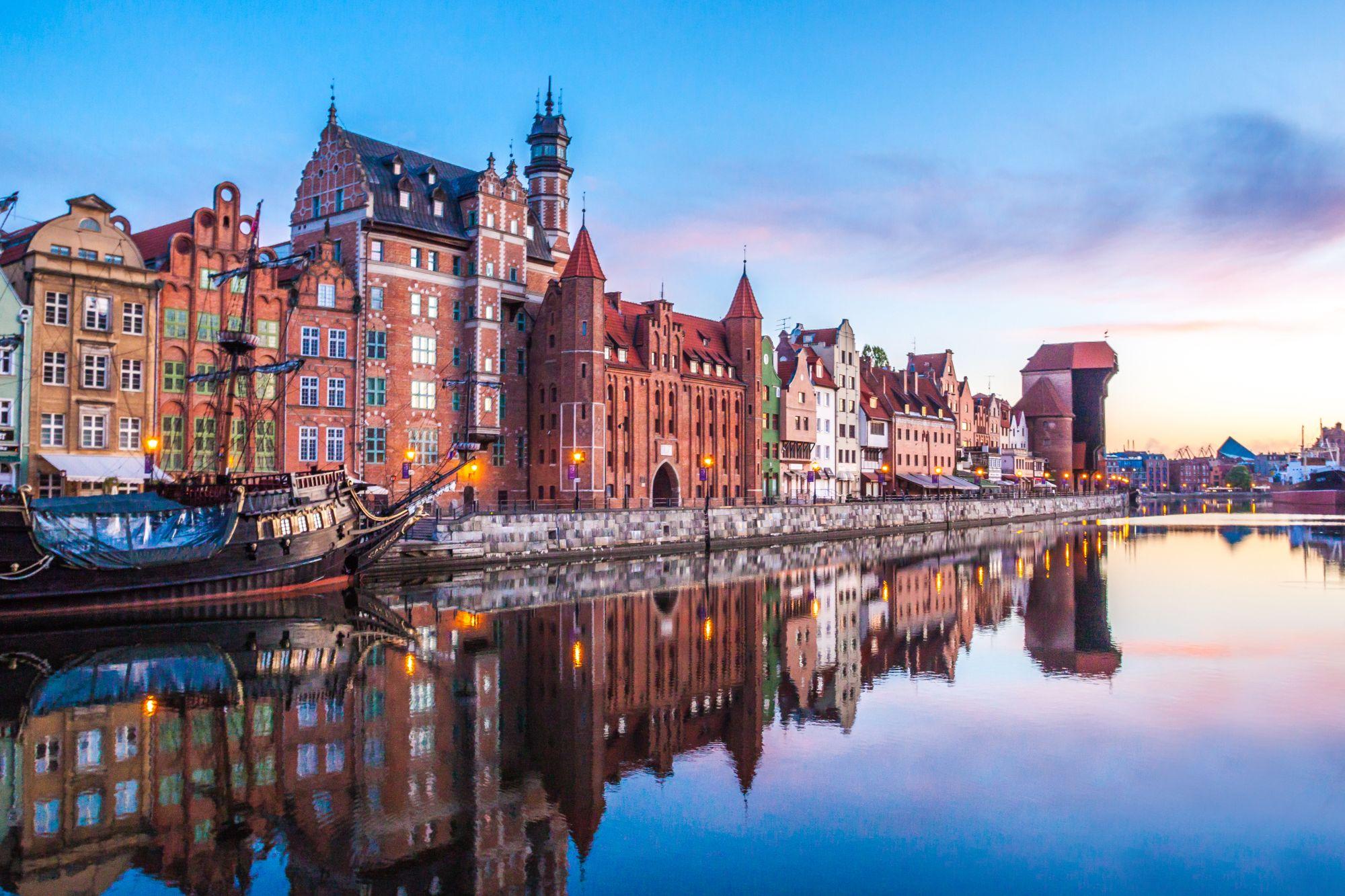 Gdańsk wieczorową porą