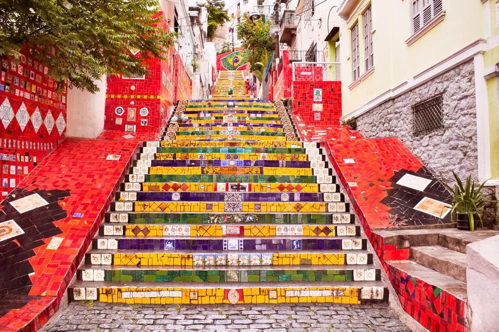 schody w Rio de Janeiro