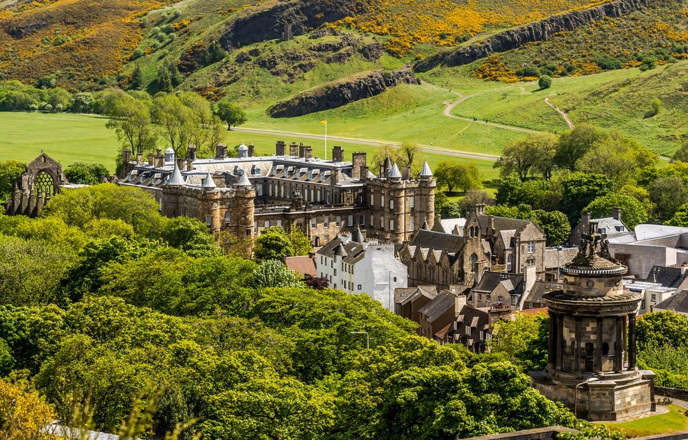 pałac w szkocji