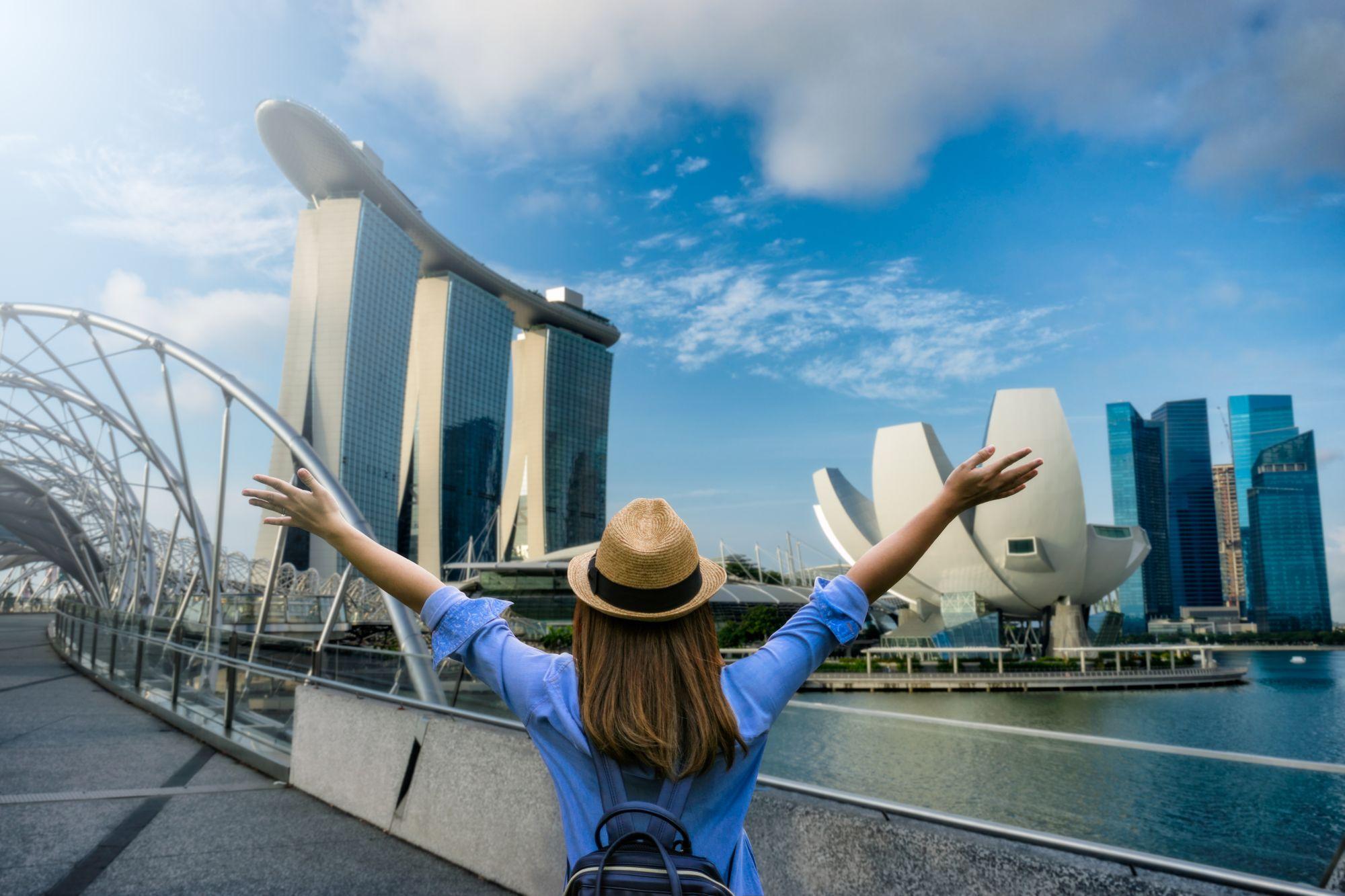Turystka w Singapurze