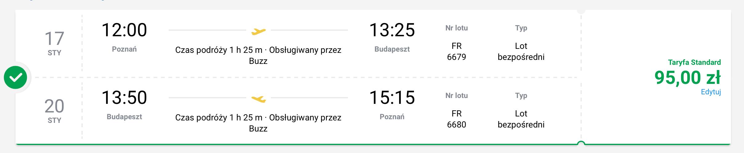 poznan budapeszt