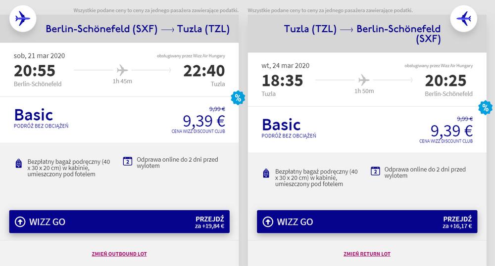 loty do Bośni