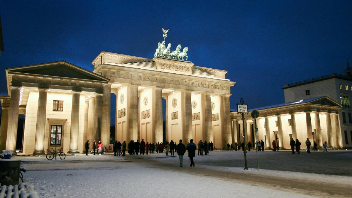 brama brandenburska w berlinia