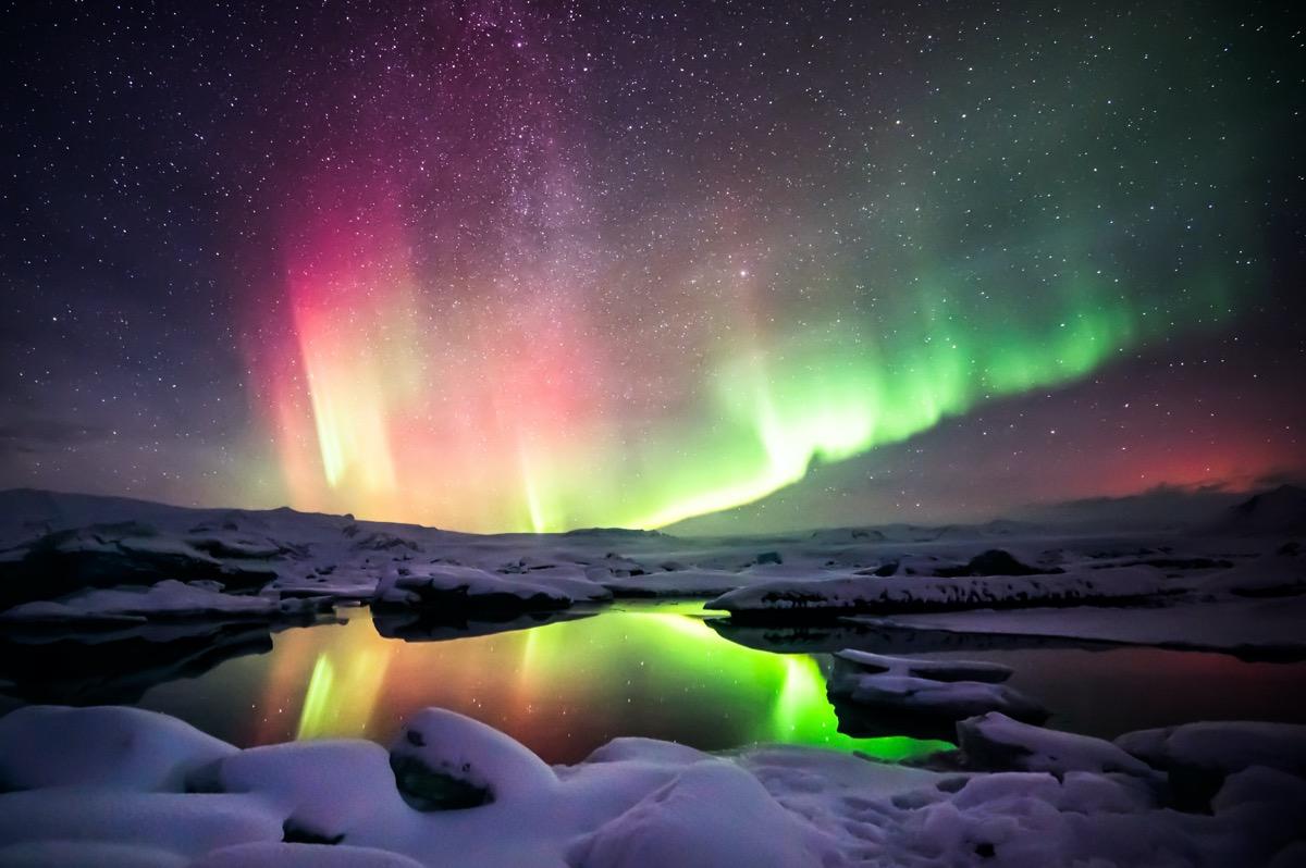 zorza na islandii