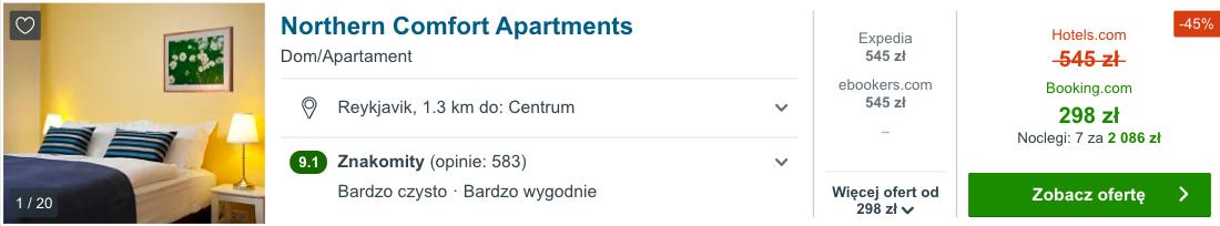 zarezerwuj hotel w reykjaviku