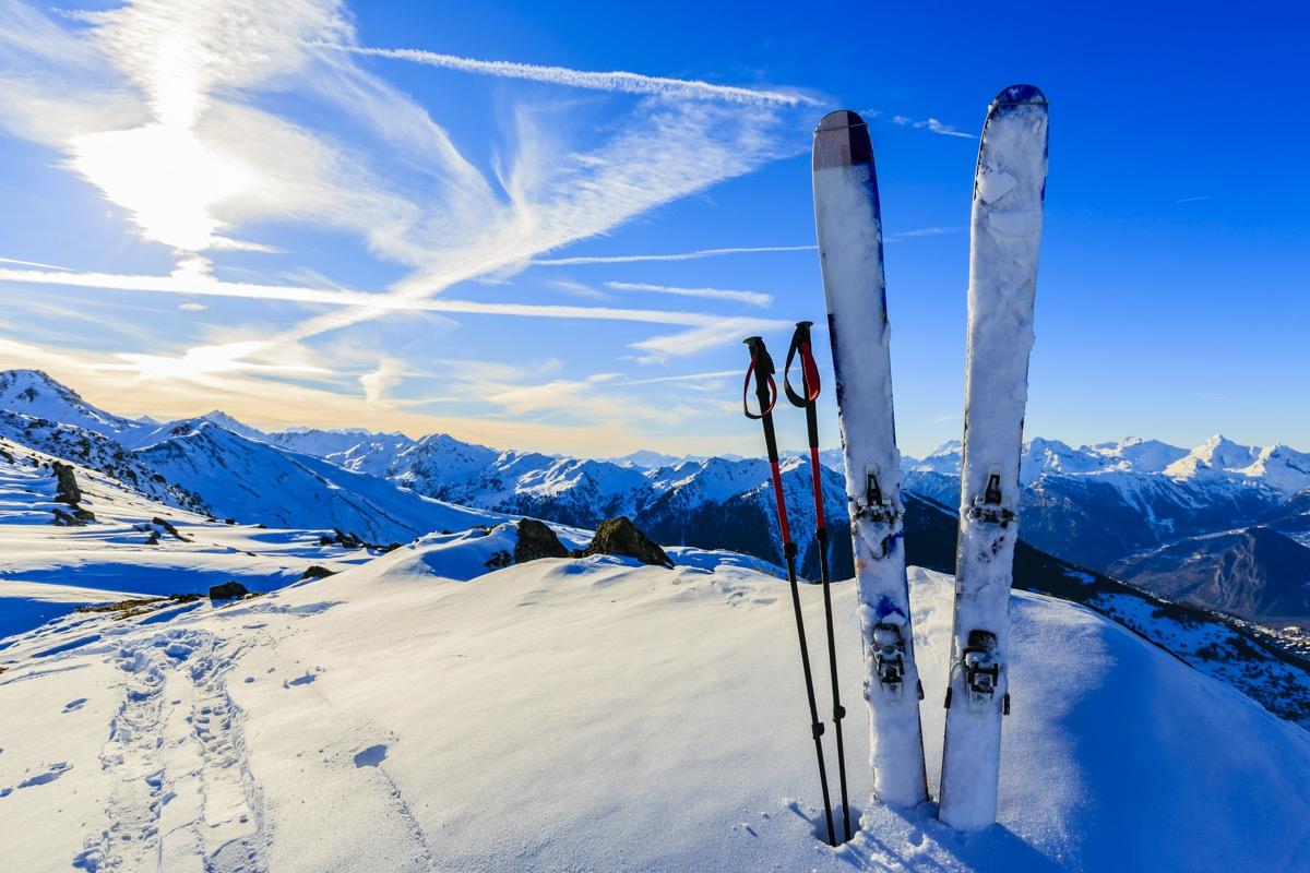 narty w gorach