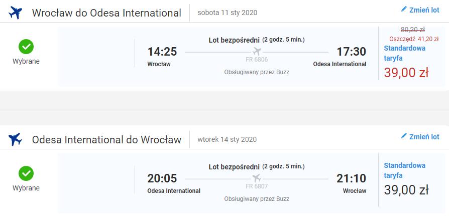Loty do Odessy