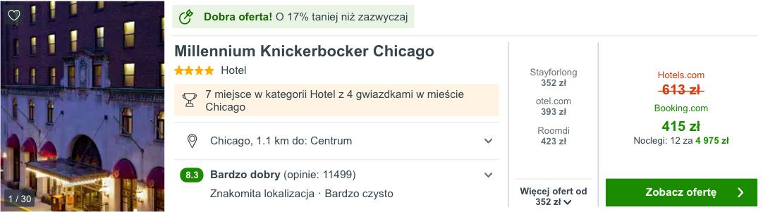 zarezerwuj hotel w chicago