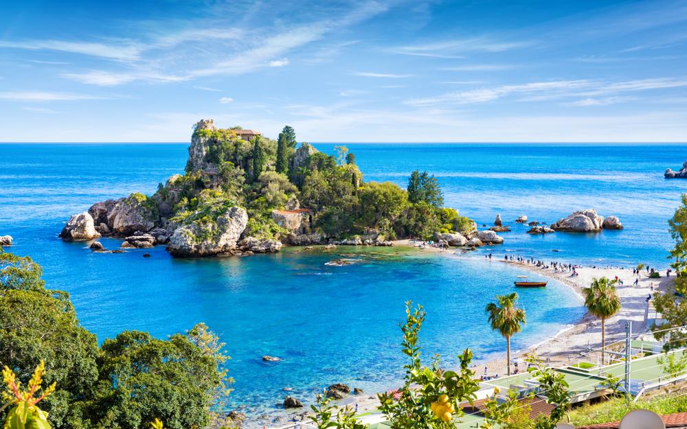 Wyspa nieopodal Taorminy