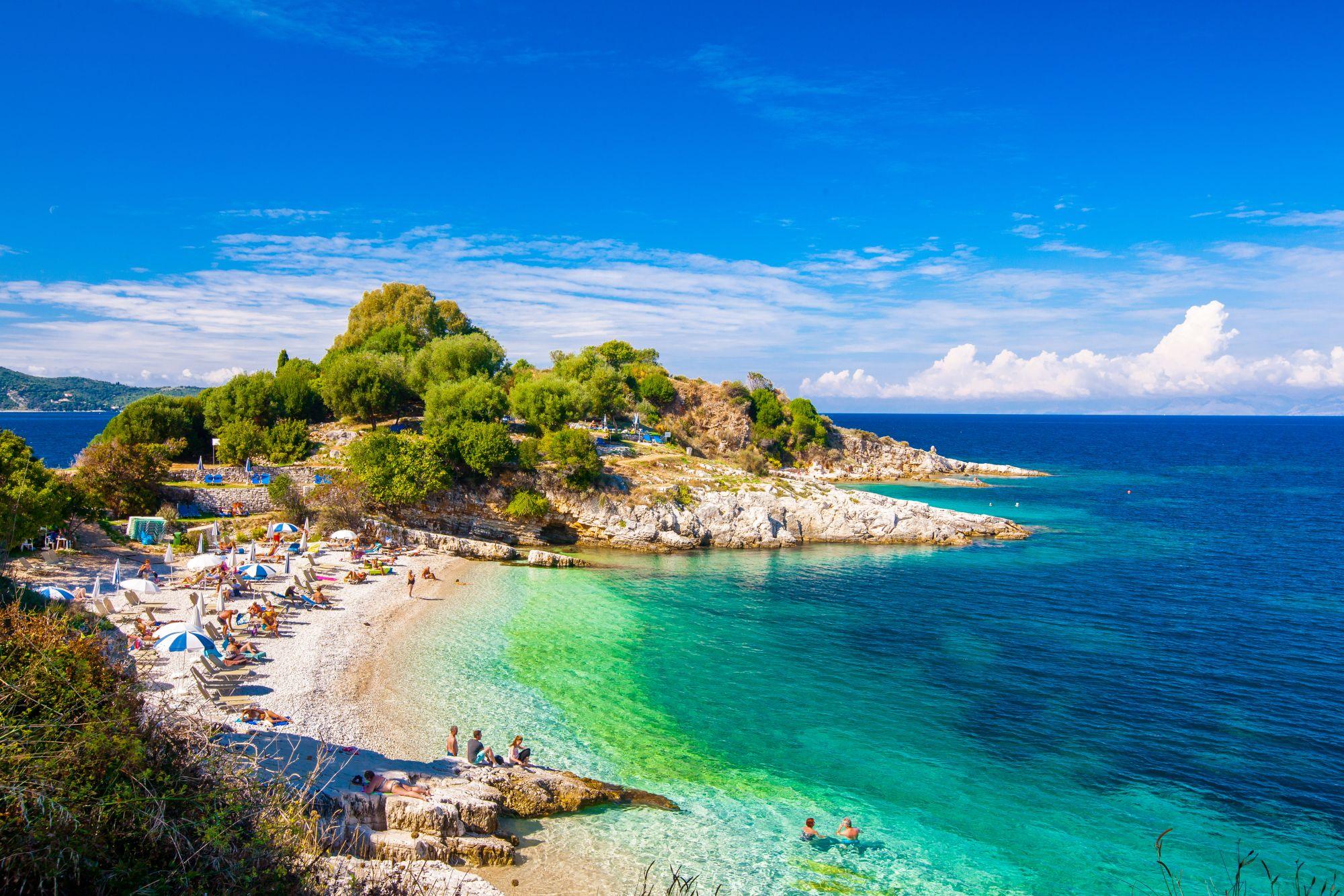 Plaża na Korfu